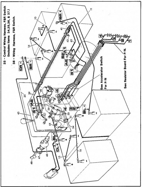 x 444 year 1984 1986 ezgo golf cart. Black Bedroom Furniture Sets. Home Design Ideas
