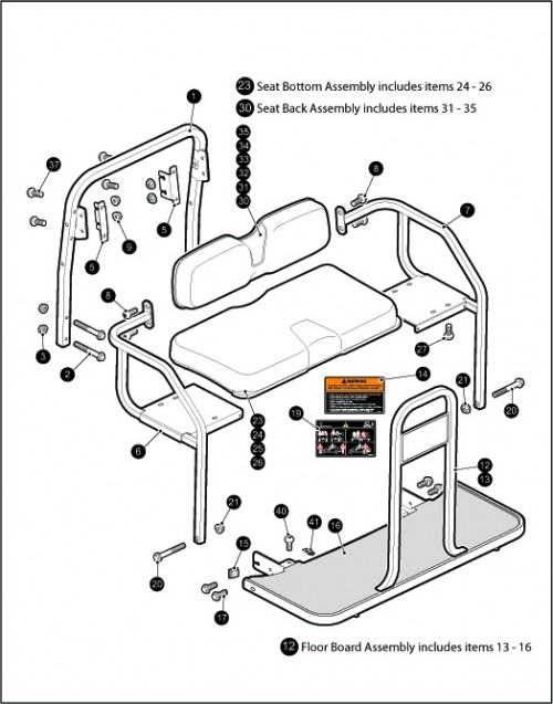 19_Seating - Rear Seat 2 + 2