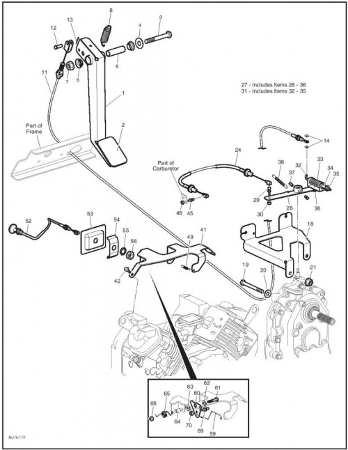 91 ezgo gas engine diagram