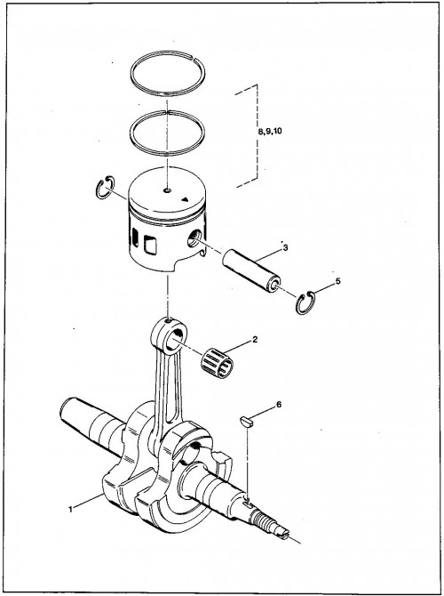 13_1989-1991 Gas Crankshaft and Piston
