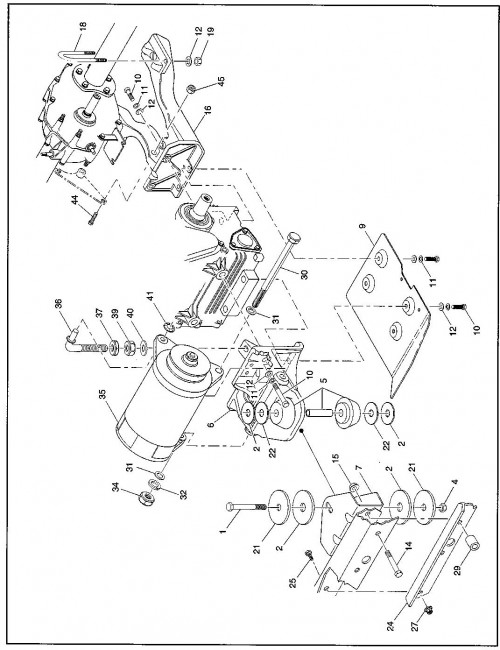16_1994-1995 Gas Engine and Starter Mounting