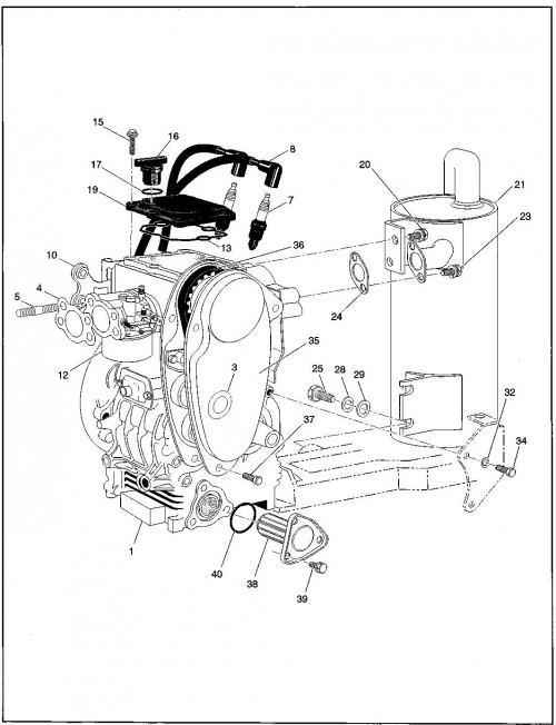1995-2000 Gas 11_Engine and Muffler
