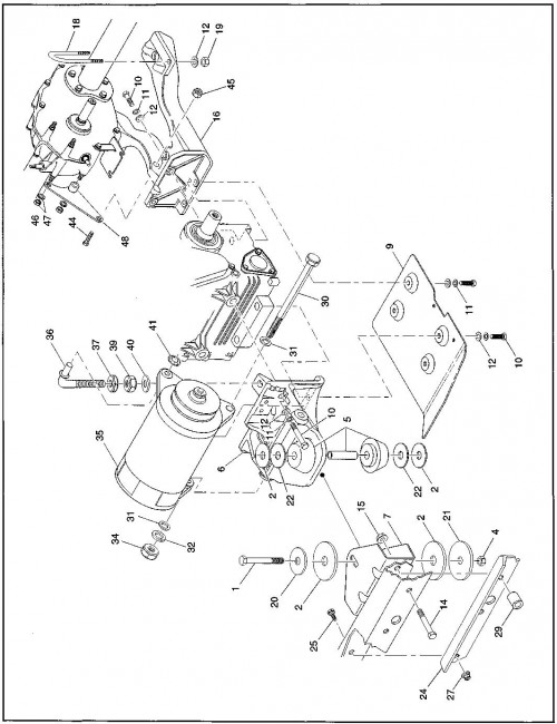 1995-2000 Gas 12_Engine and Starter Mounting