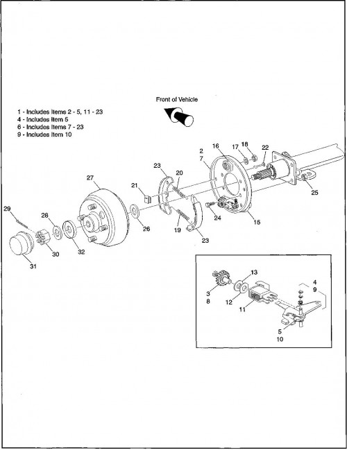 1995-2000 Gas 6_Brakes - Non-Bendix Mechanical
