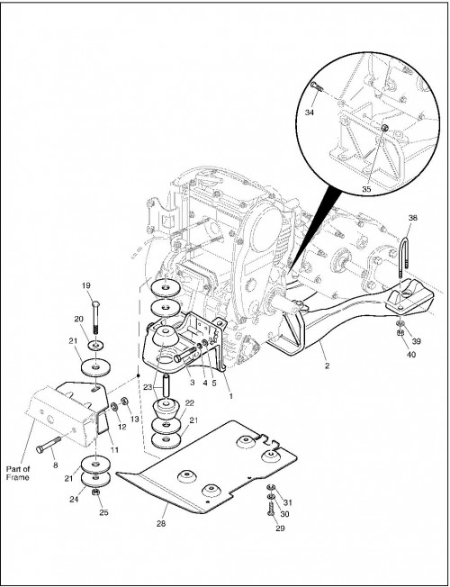2001 Gas 14_Engine Mounting