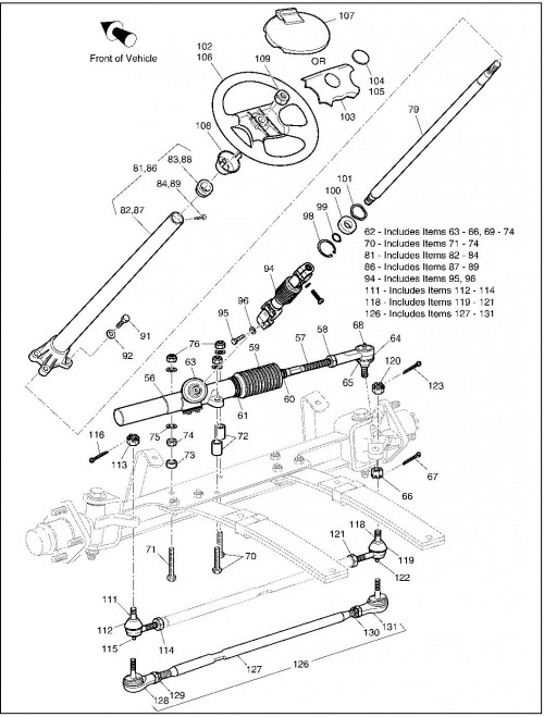 2001 Gas 16_Front Suspension Steering (Later Production)_2