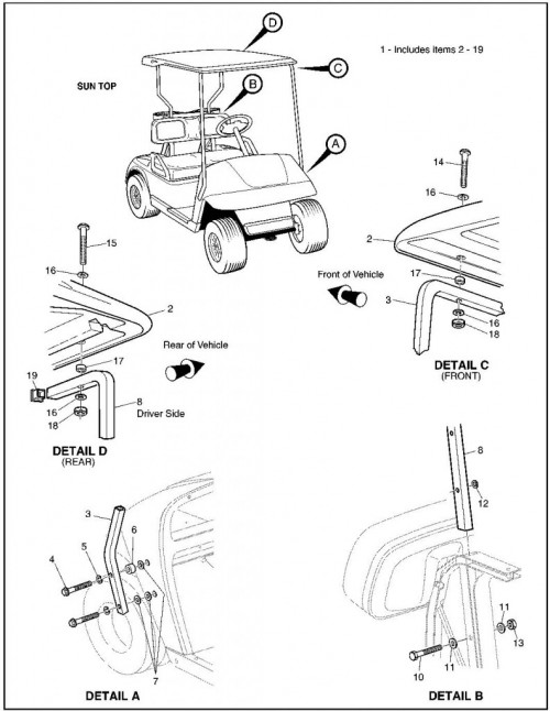 2002 Gas 24_Weather Protection - Golf Car