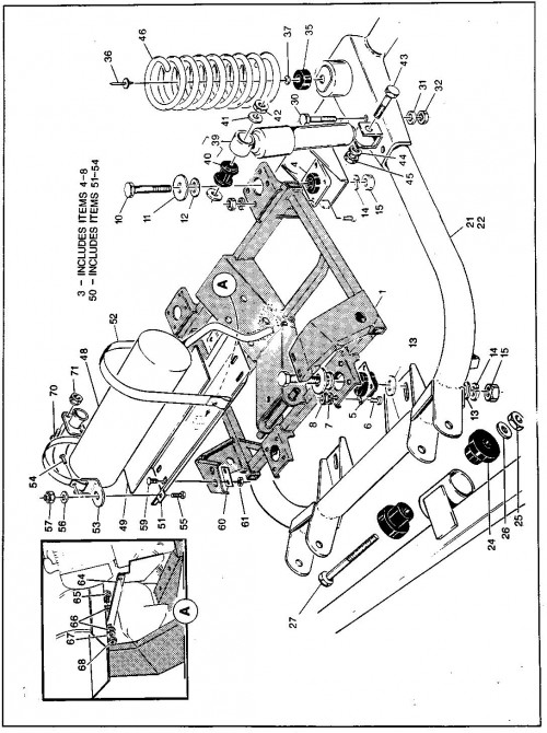 29_1989-1991 Gas Inner Frame and Powertrain Support