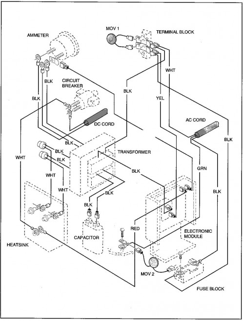 wiring diagram for e z go freedom golf cart