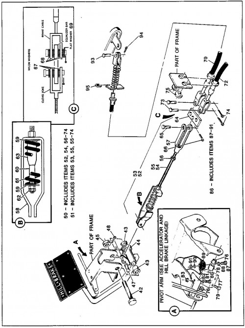 9_1989-1991 Electric and Gas Brake Linkage - First Used for Model Year 1990_2