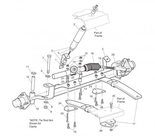 Front Axle And Differential Exploded View Diagram moreover Ez Go Rear Axle Diagram as well 1984 1991ClubCarGas together with 255 as well 217. on club car golf cart front end diagram
