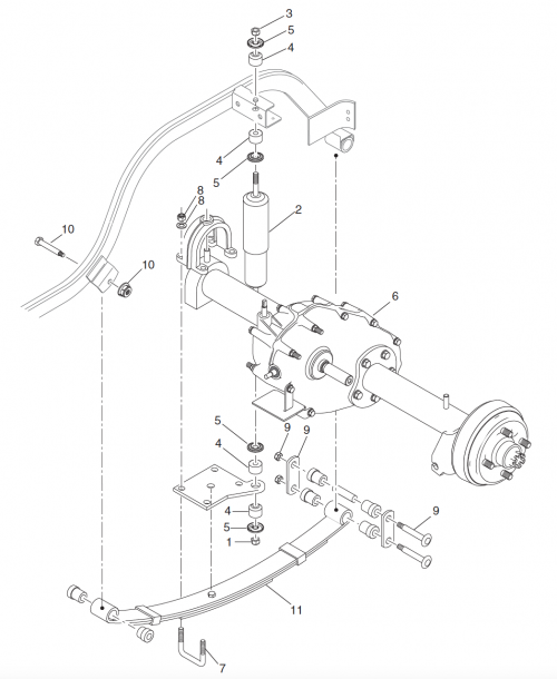 2002 Ezgo Electric Golf Cart Rear Axle Diagram