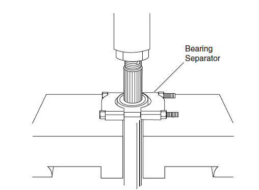Pressing Bearing from Axle Shaft