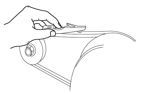 Inspecting Belt Tension with Gauge